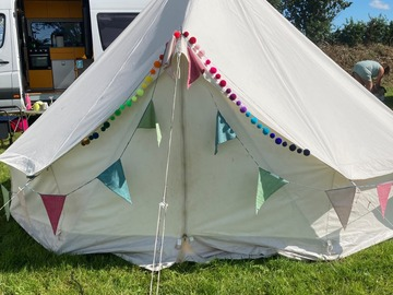 Renting out with online payment: Claire's tent