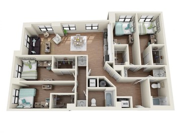 List Your Space: Two Rooms in University View 4x2 (Tower 2)