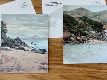 : Hong Kong seaside postcard