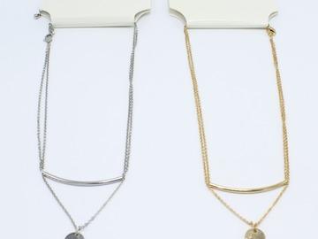 Liquidation/Wholesale Lot: Dozen Gold & Silver Drop Pendant Necklaces