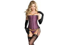 For Sale: SHIRLEY OF HOLLYWOOD: Stunning Zip Up Front Corset