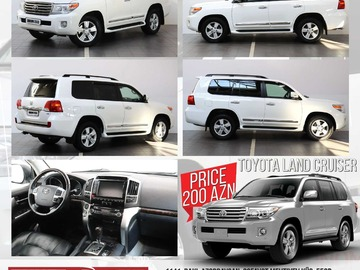 Listing: Toyota Land Cruiser 200 Rent A Car Baku