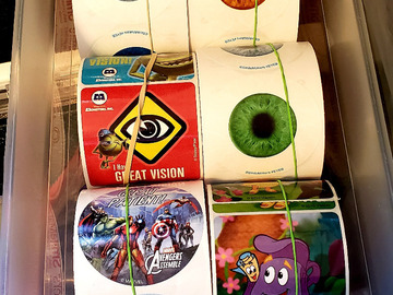Selling with online payment: 100s of Pediatric Stickers: Glow in the dark eyes, Cartoon, Misc