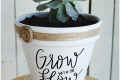 """Selling with online payment: 6"""" x 6"""" Specialty Made Flower Pots"""