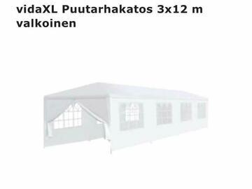 Ilmoitus: Valkoinen puutarhakatos 3x12m (AVAAMATON)