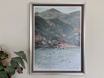 """: Print, """"ferry view between Discovery Bay and Mui Wo"""""""