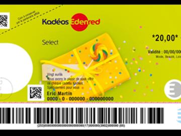 Vente: Chèques Kadéos Select Edenred (60€)