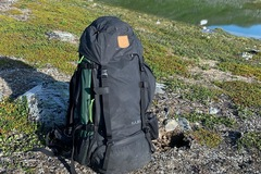 Vuokrataan (yö): Fjällräven Kajka 65 Litraa (Musta)