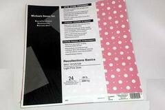 "Buy Now: Pack Of 24 ""Light Pink Dots"" Scrapbooking Paper (12″ X 12″) – Onl"