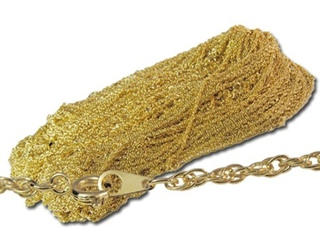 "Liquidation/Wholesale Lot: 50 pcs--  20"" Goldtone Rope Chain--2mm--$ .99 pcs!"