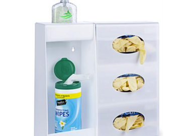 SALE: Wall Mounted Hygiene Supply Station with 3 Glove Box Dispenser