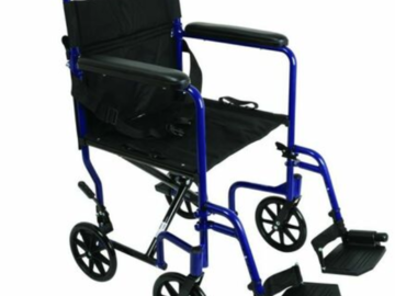 SALE: ProBasics Aluminum Transport Chair With Footrests