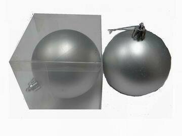 Buy Now: Fancy Silver Shatter Resistant Ball Christmas Ornament – Minor Bl