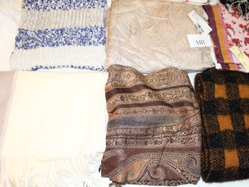Liquidation/Wholesale Lot: 30 Piece High Quality Fall & Winter Wraps / Scarves / Neckwear
