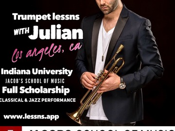 Trumpet - 60 minute: Trumpet lessns - Los Angeles, CA (in-person or SKYPE/ZOOM)