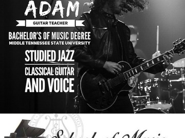 Guitar - 60 Minute: Guitar Lessns with Adam   TRIAL LESSON 60 min