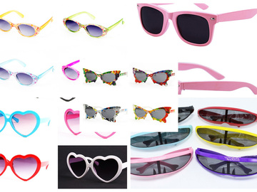 Compra Ahora: 6 Dozen (72 Pairs) Assorted Kids Size Sunglasses NIB