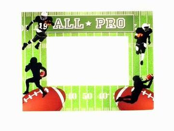 Buy Now: Football Party Card Picture Frame With Easel – Holds A 4″ X 6″ Ph