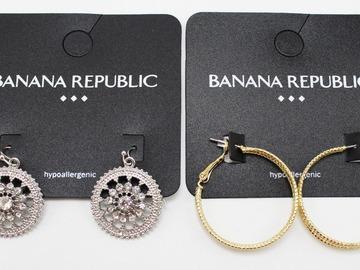 Buy Now: Dozen Banana Republic Gold & Silver Earrings