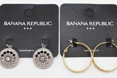Buy Now: Dozen Banana Republic Gold & Silver Earrings