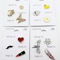 Liquidation/Wholesale Lot: Dozen Fashion Pin Brooch Sets by Target