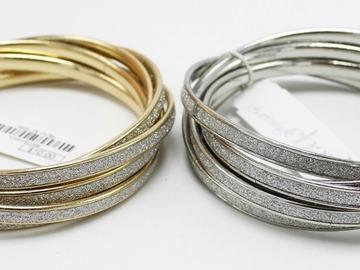 Buy Now: Dozen Gold & Silver Ladies Bangle Bracelets Sets