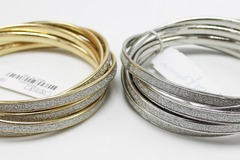 Buy Now: Dozen Gold & Silver Ladies Bangle Bracelets Sets