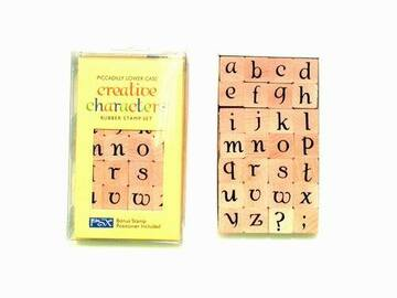 Buy Now: Piccadilly Lower Case Alphabet Creative Characters Rubber Stamp S
