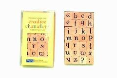 Liquidation/Wholesale Lot: Piccadilly Lower Case Alphabet Creative Characters Rubber Stamp S