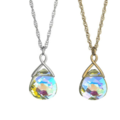 Buy Now: 12  Briolette Necklaces  Swarovski Crystal in Aurora Borealis