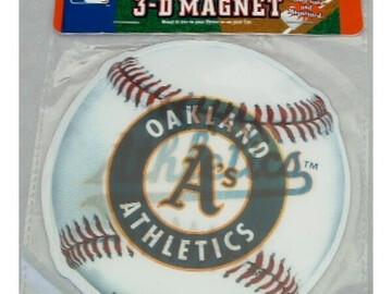 Buy Now: Licensed MLB OAKLAND ATHLETICS TEAM 3-D MAGNET