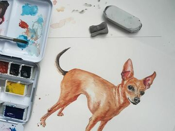: Custom Pet Portrait - Commission Painting
