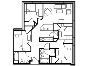List Your Space: Apartment Available in South Campus Commons