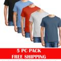 Liquidation/Wholesale Lot: Hanes 5 Pack ComfortSoft T-Shirt - 5280   CASE 25 PCS SIZES S-XL