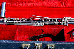 Selling with online payment: BUNDY by SELMER Resonite ALTO CLARINET + CASE STRAP  MOUTHPIECE
