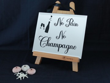 : Decorative Mirror - No Pain, No Champagne!