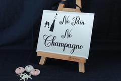 : Decorative Mirror - No Pain, No Champagne!