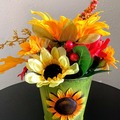 Selling with online payment: Sunflower Fall Table Centerpiece