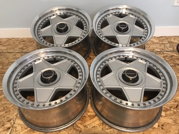 Selling: Autostrada Modena GTR wheels 17x9 with caps plates and nuts