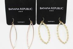 Buy Now: Dozen Rose Gold & Gold Pearl Banana Republic Earrings