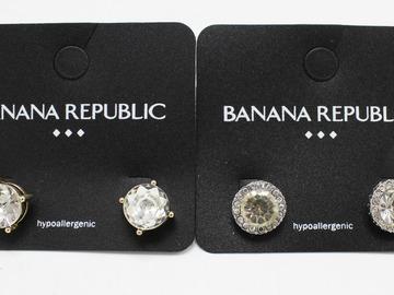 Liquidation/Wholesale Lot: Dozen Banana Republic Rhinestone Stud Earrings
