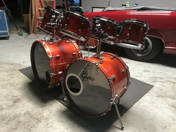 Selling with online payment: 1982 GRETSCH USA CUSTOM DRUM SET