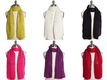 Buy Now:  Dozen Collection 18 Crochet Honeycomb Stitch Scarves $456