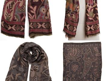 Liquidation/Wholesale Lot: Dozen Collection XIIX Paisley Shawl Wrap Scarves $456 Value