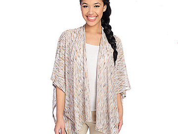 Liquidation/Wholesale Lot: 6 Piece Nordstroms Accessory Street Space Dyed Ruana Top $54 Tags