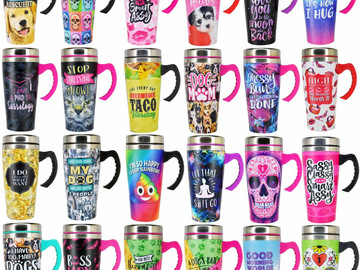 Buy Now: 24 Stainless Steel Artwork Printed Travel Mugs