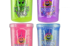 Buy Now: 108 TUBS OF SLIME - ASSORTED COLORS & DESIGN PACKAGING