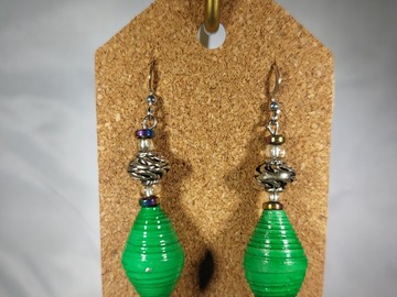 Selling with online payment: Paperbead and Fabric Earrings