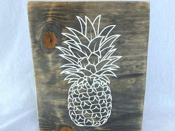 Selling with online payment: Perfect Pineapple Wood Sign
