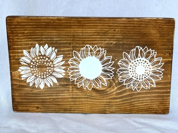 Selling with online payment: Sunflowers Sign